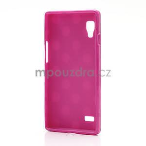Gélové PUNTÍK puzdro pre LG Optimus L9 P760- růžové - 4
