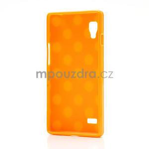 Gélové PUNTÍK puzdro pre LG Optimus L9 P760- oranžové - 4