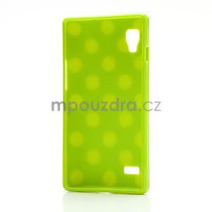 Gélové PUNTÍK puzdro pre LG Optimus L9 P760- zelené - 4