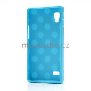 Gélové PUNTÍK puzdro pre LG Optimus L9 P760- modré - 4