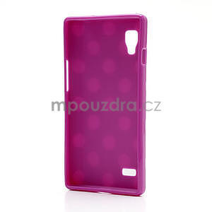 Gélové PUNTÍK puzdro pre LG Optimus L9 P760-fialové - 4