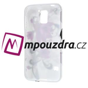 Gélové puzdro pre Samsung Galaxy S5- fialový kvet - 4