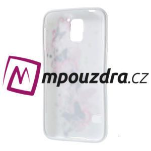 Gélové puzdro pre Samsung Galaxy S5- motýl kvetina - 4