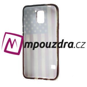 Gélové puzdro pre Samsung Galaxy S5- USA vlajka - 4