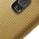 Gelové pouzdro na Samsung Galaxy S5- zlaté - 4/5