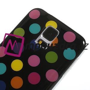 Gélové puntíkaté puzdro pre Samsung Galaxy S5- černofarebné - 4