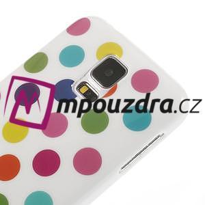 Gélové puntíkaté puzdro pre Samsung Galaxy S5- bílofarebné - 4