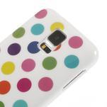 Gélové puntíkaté puzdro pre Samsung Galaxy S5- bílofarebné - 4/5