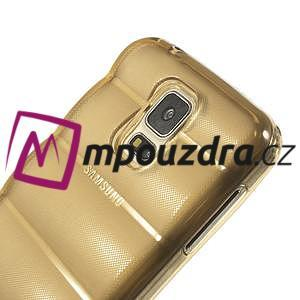 Gélové vesta puzdro pre Samsung Galaxy S5- zlaté - 4