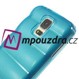 Gélové vesta puzdro pre Samsung Galaxy S5- modré - 4