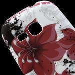 Gélové puzdro pre Samsung Galaxy Young S6310- červený kvet - 4/5