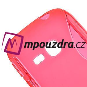 Gélové S-line puzdro pre Samsung Galaxy Young S6310- ružové - 4