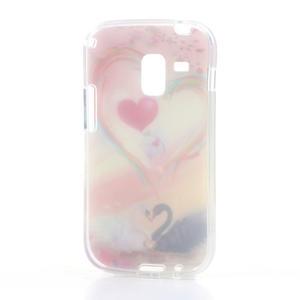 Gélové puzdro na Samsung Galaxy Trend, Duos- labutí srdce - 4