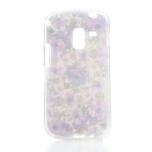 Gélové puzdro pre Samsung Galaxy Trend, Duos- fialové kvety - 4