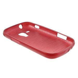 Kartáčované puzdro na Samsung Galaxy Trend, Duos- červené - 4