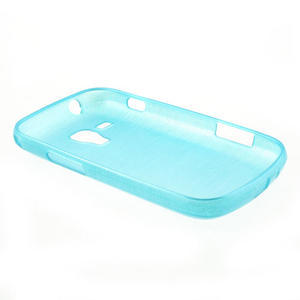 Kartáčované puzdro na Samsung Galaxy Trend, Duos- modré - 4