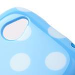 Gélové PUNTÍK puzdro na HTC Desire X- modrý - 4/6