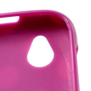 Gélové PUNTÍK puzdro na HTC Desire X- fialový - 4