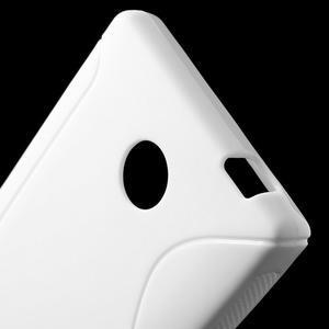 Gélové S-line puzdro na Nokia X dual- biele - 4