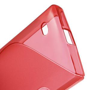 Gélové S-line puzdro na Nokia X dual- červené - 4