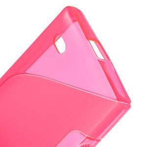 Gélové S-line puzdro na Nokia X dual- ružové - 4