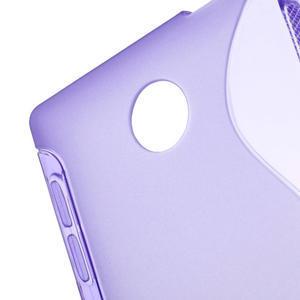 Gélové S-line puzdro na Nokia X dual- fialové - 4
