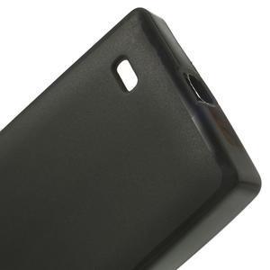Gélové matné puzdro na Nokia X dual-čierné - 4