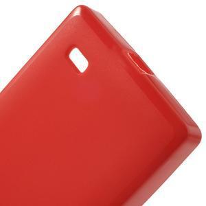 Gélové matné puzdro na Nokia X dual- červené - 4