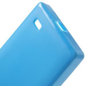 Gélové matné puzdro na Nokia X dual- modré - 4