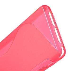 Gélové S-line puzdro na Sony Xperia Z1 Compact D5503- růžové - 4