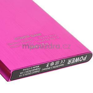 Luxusná kovová externá nabíjačka power bank 12 000 mAh - rose - 4