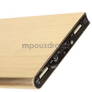 Luxusná kovová externá nabíjačka power bank 12 000 mAh - zlatá - 4