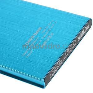 Luxusná kovová externá nabíjačka power bank 12 000 mAh - modrá - 4