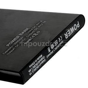 Luxusná kovová externá nabíjačka power bank 12 000 mAh - čierna - 4
