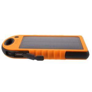Outdoor GX vysokokapacitní externí solární nabíjačka 12 000 mAh - oranžová - 4