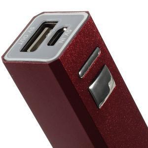 GTX kovová externí nabíjačka 2 600 mAh - červená - 4