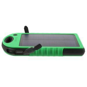 Outdoor GX vysokokapacitní externí solární nabíjačka 12 000 mAh - zelená/čierná - 4