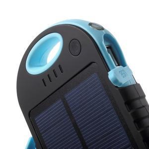 Outdoor GX vysokokapacitní externí solární nabíjačka 12 000 mAh - modrá - 4
