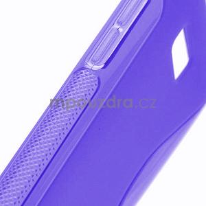 Gélové S-line puzdro pre HTC Desire 600- fialové - 4