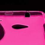 Gélové S-line puzdro pre HTC one M7- ružové - 4/6