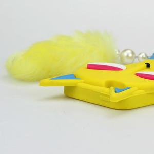 Gélové 3D puzdro na iPhone 5, 5s- kočka žltá - 4