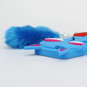 Gélové 3D puzdro na iPhone 5, 5s- kočka modrá - 4