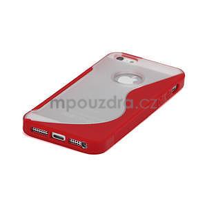 S-line hybrid puzdro pre iPhone 5, 5s- červené - 4