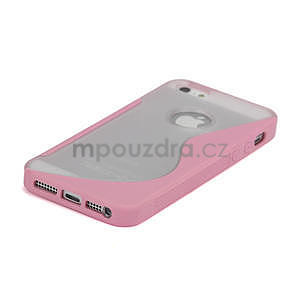 S-line hybrid puzdro pre iPhone 5, 5s- svetleružové - 4