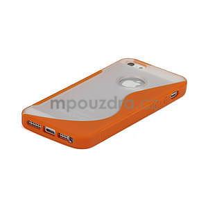 S-line hybrid puzdro pre iPhone 5, 5s- oranžové - 4