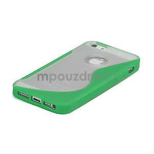 S-line hybrid puzdro pre iPhone 5, 5s- zelené - 4