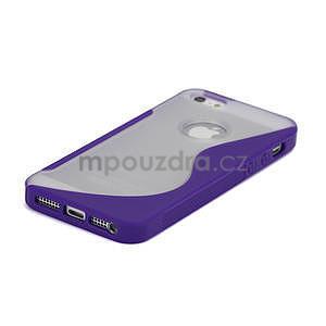 S-line hybrid puzdro pre iPhone 5, 5s- fialové - 4