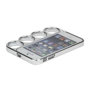 Ocelové lehké puzdro na iPhone 5, 5s- strieborné - 4