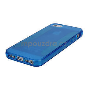 Gélové puzdro pre iPhone 5, 5s- modré - 4