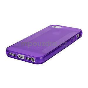 Gélové puzdro pre iPhone 5, 5s- fialové - 4